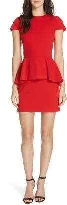 Alice + Olivia Ember Peplum Fitted Dress