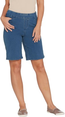 Denim & Co. Comfy Knit Smooth Waist Pull-On 5-Pocket Shorts