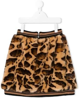 Dolce & Gabbana leopard short skirt