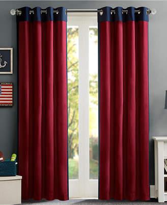 "Mi Zone Liam 50"" x 84"" Colorblocked Room Darkening Window Panel, Energy-Saving"