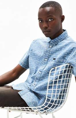 RVCA Nakama Dot Short Sleeve Button Up Shirt