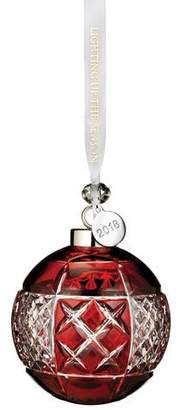 Waterford Crystal 2018 Ball Christmas Ornament, Ruby