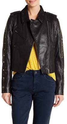 Scotch & Soda Studded Leather Jacket