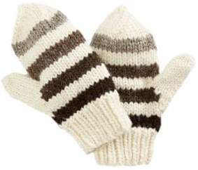 HBC Stripes Hand Knit Wool Mittens