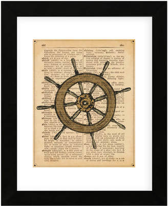 McGaw Graphics Nautical Series - Ship Wheel By Sparx Studio Framed Print