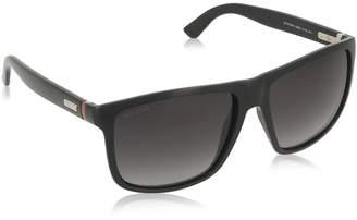Gucci Sporty Square Sunglasses in Shiny Black GG 1075/NS D28