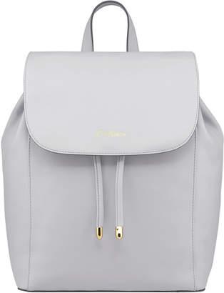 Cath Kidston Ice Grey Saxham Leather Backpack