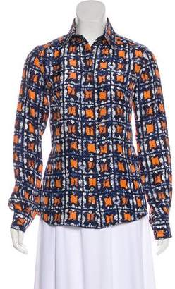 Dolce & Gabbana Abstract Print Button-Up Top