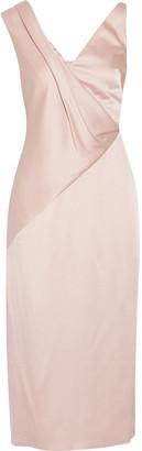 Jason Wu - Draped Charmeuse Midi Dress - Blush $1,695 thestylecure.com