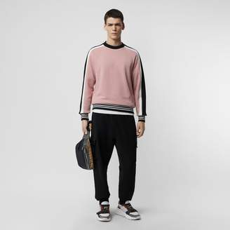 Burberry Stripe Detail Cotton Jersey Sweatshirt