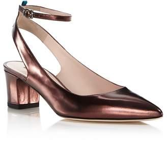 Sarah Jessica Parker Maya Metallic Leather Ankle Strap Pumps - 100% Exclusive