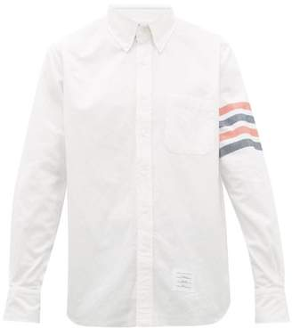 Thom Browne 4 Bar Brushed Cotton Twill Shirt - Mens - White