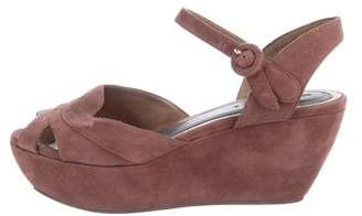 Marni Suede Wedge Sandals