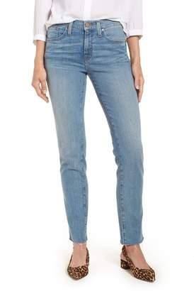 Caslon Sage High Waist Slim Straight Leg Jeans (Regular & Petite)