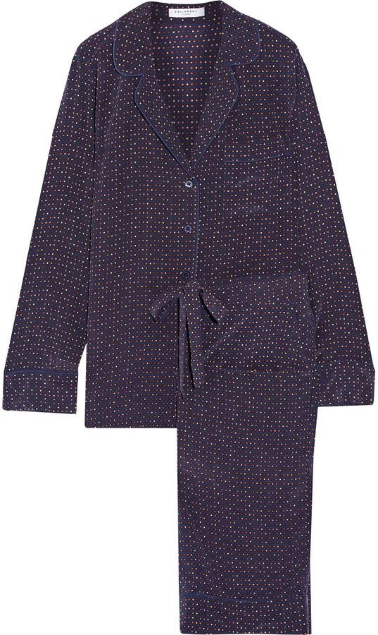 EquipmentEquipment Avery polka-dot washed-silk pajama set