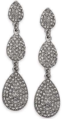 INC International Concepts I.N.C. Silver-Tone Pavé Triple Drop Earrings, Created for Macy's
