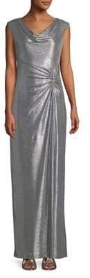 Lauren Ralph Lauren Cowl Neck Shimmer Gown