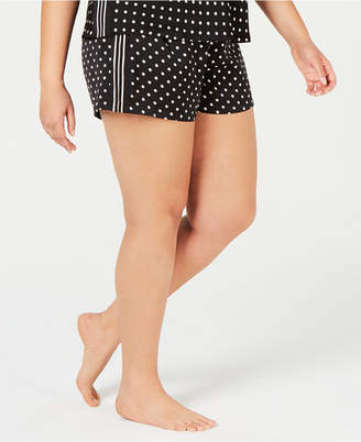 INC International Concepts I.n.c. Plus Size Satin Tuxedo Stripe Pajama Shorts, 7084135