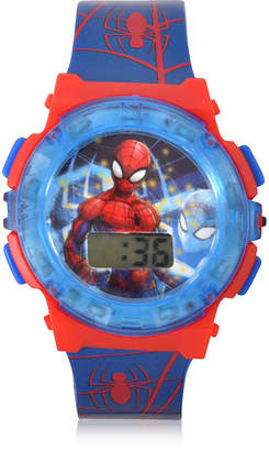 Marvel Spiderman Unisex Adult Blue Strap Watch-Spd40006jc