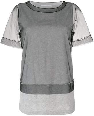 Fabiana Filippi sheer crew neck T-shirt