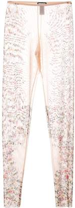 DSQUARED2 floral sheer leggings