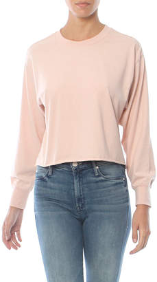 Z Supply The Long Sleeve Cropped Boyfriend Tee