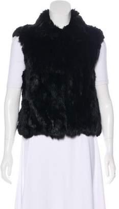 Adrienne Landau Fur Structured Vest