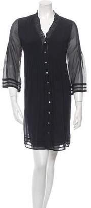 Diane von Furstenberg Silk Pleat-Accented Dress
