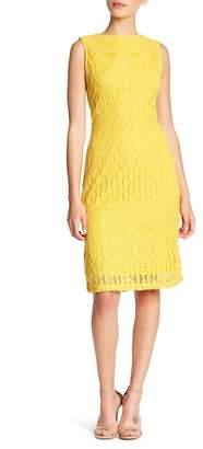 Sharagano Sleeveless Lace Sheath Dress (Petite)