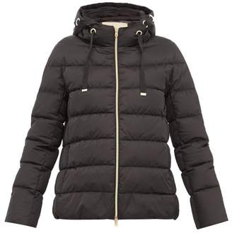 Herno Zip Through Quilted Down Hooded Jacket - Womens - Black
