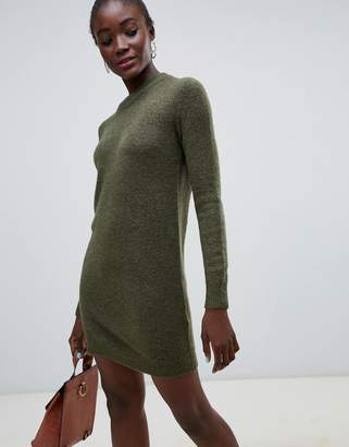Pieces Funnel Neck Sweater Dress