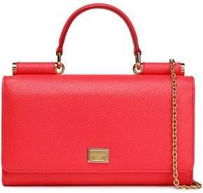 Dolce & Gabbana Sicily Von Textured-Leather Shoulder Bag