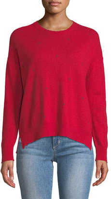 Sundry Hearts And Stars Printed Wool-Cashmere Sweater