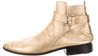CNC Costume National Metallic Ankle Boots
