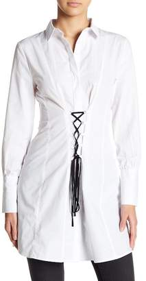 Romeo & Juliet Couture Corset Lace-Up Shirt
