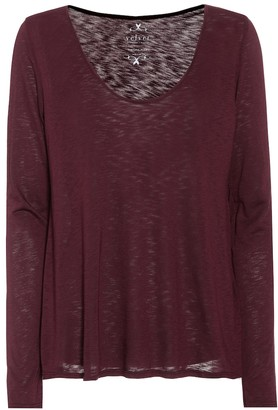 Velvet Nadia cotton-blend top