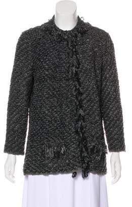 Armani Collezioni Fringed Short Coat