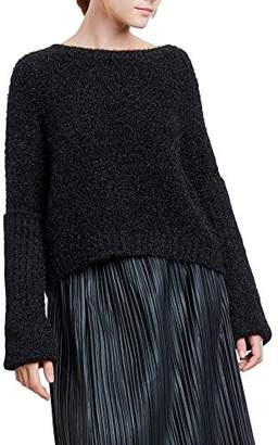 Kenneth Cole Women's Large Cuff Crop Sweater