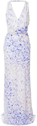 Roberto Cavalli watercolour print gown