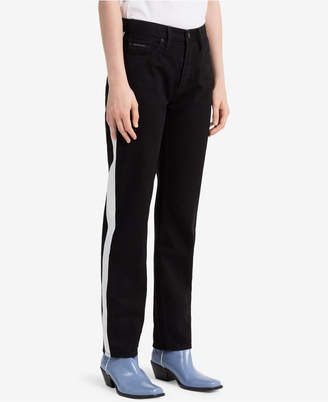 Calvin Klein Jeans Striped Black Straight Jeans