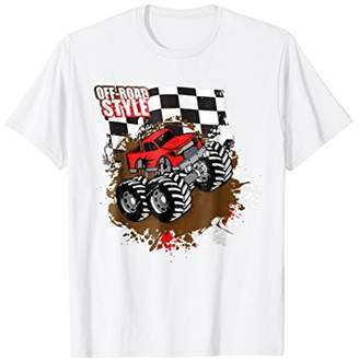 Monster Truck t Shirt Off Road Style Red Monster Truck