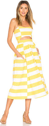 Mara Hoffman Cut Out Midi Dress in Yellow $350 thestylecure.com