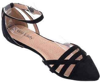 Ralph Lauren Mila Lady Fashion New Ankle Strap Pointy Toe Woman s Fashion Flats