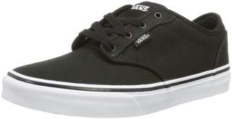 Vans Atwood Youth Boys US Size 3.5 Black Canvas Skate Shoes