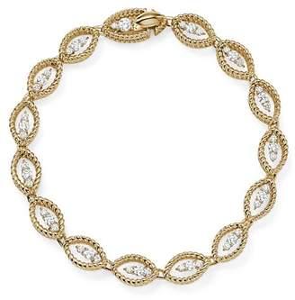Roberto Coin 18K White and Yellow Gold New Barocco Diamond Bracelet