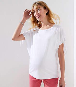 LOFT Maternity Tie Sleeve Sweatshirt Tee