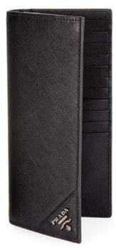Prada Vertical Leather Wallet