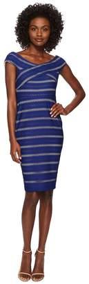 CeCe Jessa - Off the Shoulder Knit Stripe Dress Women's Dress