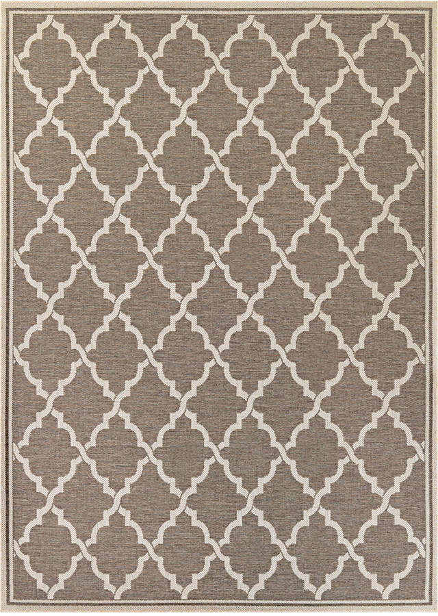 "Couristan Couristan Monaco Indoor/Outdoor Ocean Port Taupe-Sand 2'3"" x 7'10"" Runner Area Rug"