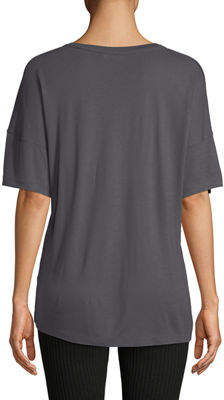 Vince Short-Sleeve Drop-Shoulder V-Neck Tee